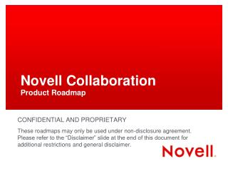 Novell Collaboration Product Roadmap