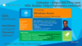 Dan Stolts , MCT, MCSA, MCITP, MCSE… Microsoft –  Chief Technology  Strategist http://ITProGuru.com @ itproguru CT, MA,