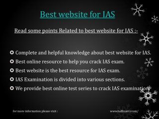 Getting important information about Best website for IAS