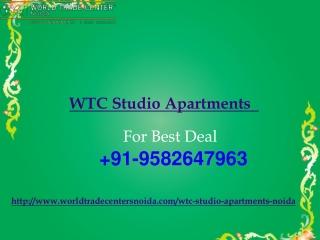 WTC Studio Noida | WTC Studio Apartments Noida