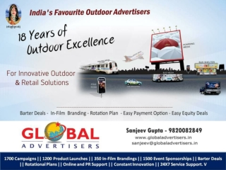 Sponsorship for New Outdoor Advertising Ideas in India