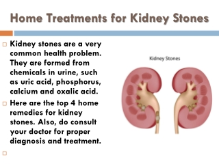 Home Treatments for Kidney Stones