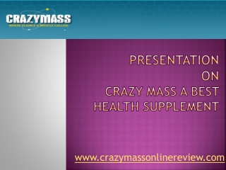 Crazy mass- The best health supplement