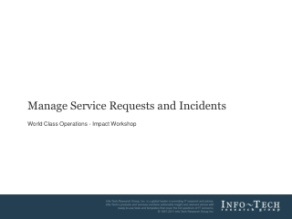 Manage Service Requests and Incidents