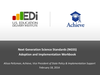 Next Generation Science Standards (NGSS)   Adoption and Implementation Workbook