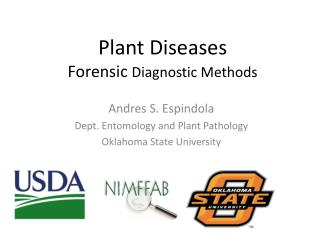 Plant Diseases Forensic  Diagnostic  Methods