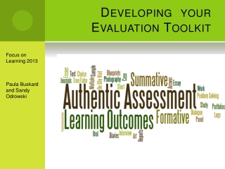 Developing   your Evaluation Toolkit
