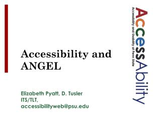 Accessibility and ANGEL