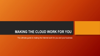 Making the cloud work for you | Private Cloud Office