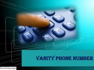 Vanity Phone Number