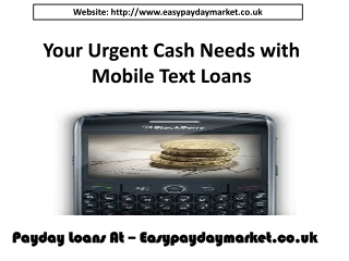 text loans via mobile