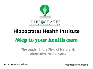 Hippocrates health institute | Step to your health care