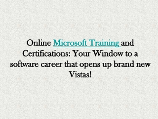 Microsoft On-line Training