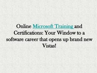 Microsoft On-line Training