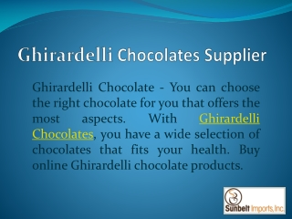 Ghirardelli Sweet Ground Chocolate Cocoa