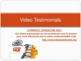 Buy Video Testimonial