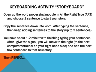 Keyboarding Activity �Storyboard�