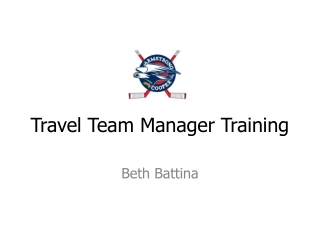 Travel Team Manager Training