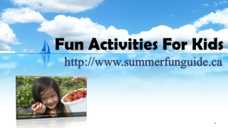 Fun Activities For Kids,