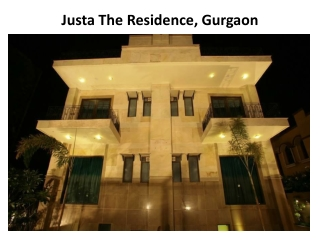 Book Justa The Residence in Gurgaon