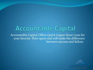 Liquor Store Loan