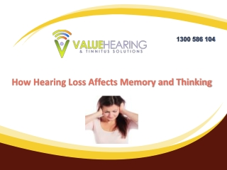 How Hearing Loss Affects Memory and Thinking