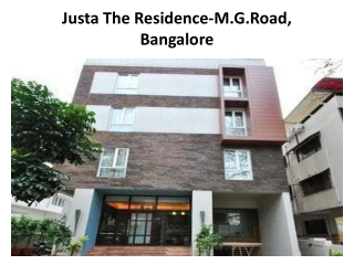 Book Justa The Residence-M.G.Road in Bangalore