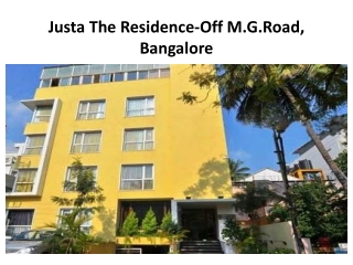 Justa The Residence-M.G.Road is budget hotel in Bangalore wi
