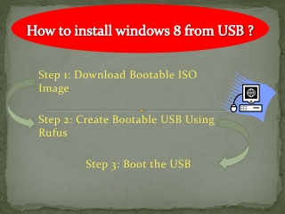 how to install windows 8 from USB