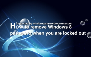 How to remove windows 8 admin password on Sony?