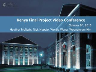 Kenya  Final  Project  Video Conference