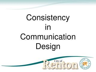 Consistency in Communication Design