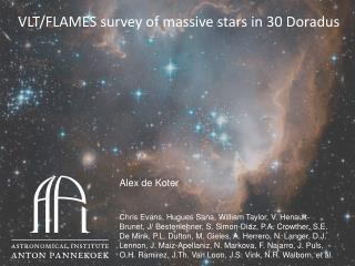VLT/FLAMES survey of  massive  stars in 30  Doradus