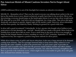 pan american metals of miami cautions investors not to forge
