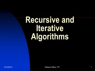 recursive and iterative algorithms