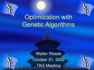 optimization with genetic algorithms