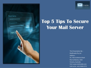Top 5 Tips to Secure Your Mail Server