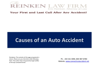 Causes of an Auto Accident