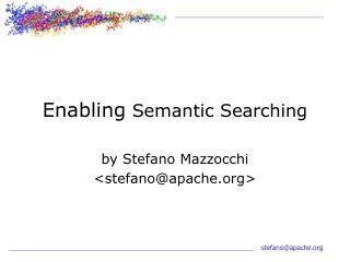 enabling semantic searching
