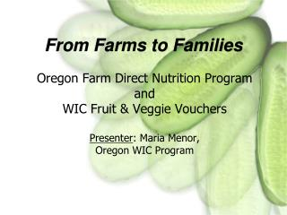 From Farms to Families