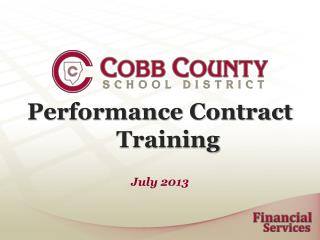 Performance Contract	Training
