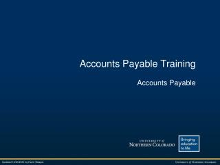 Accounts Payable Training Accounts Payable