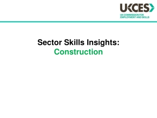 Sector Skills Insights:  Construction