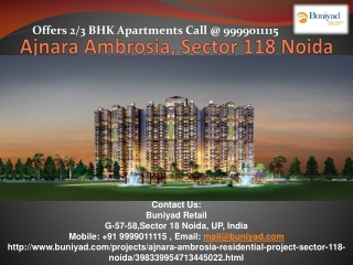 Ajnara Ambrosia – lavish 2/3 BHK flats at Rs 47.41 Lacs