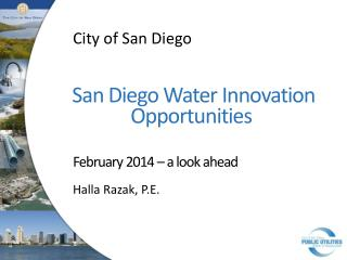 San Diego Water  Innovation Opportunities�