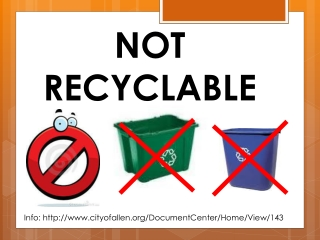 NOT RECYCLABLE