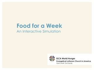 Food for a Week An Interactive Simulation