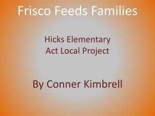 Frisco Feeds Families