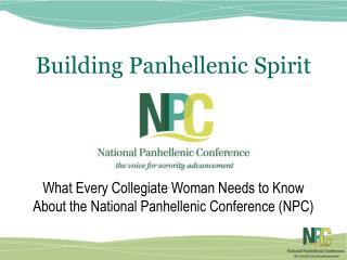 Building Panhellenic Spirit