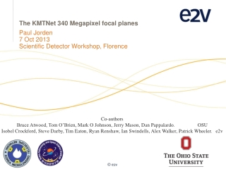 The  KMTNet 340  Megapixel  focal planes